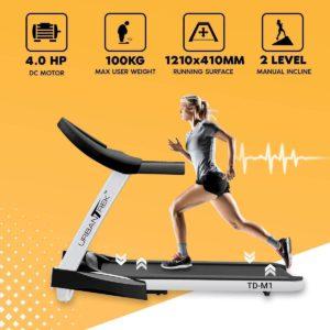 جهاز مشي قابل للطي PowerMax Fitness TD-M1 2HP
